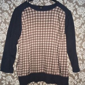 Womans Ann Taylor unique shirt/sweater.size XL❤